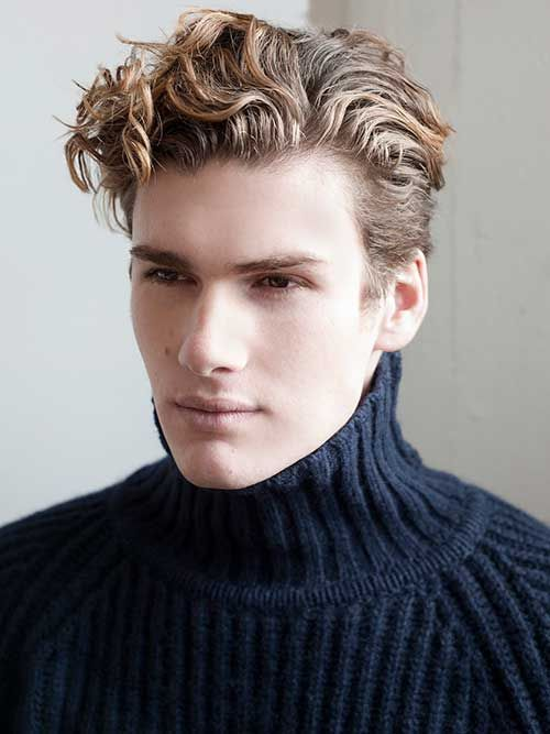 Blonde Coils Curly Hair Men Wavy Hair Men Haircuts For Men