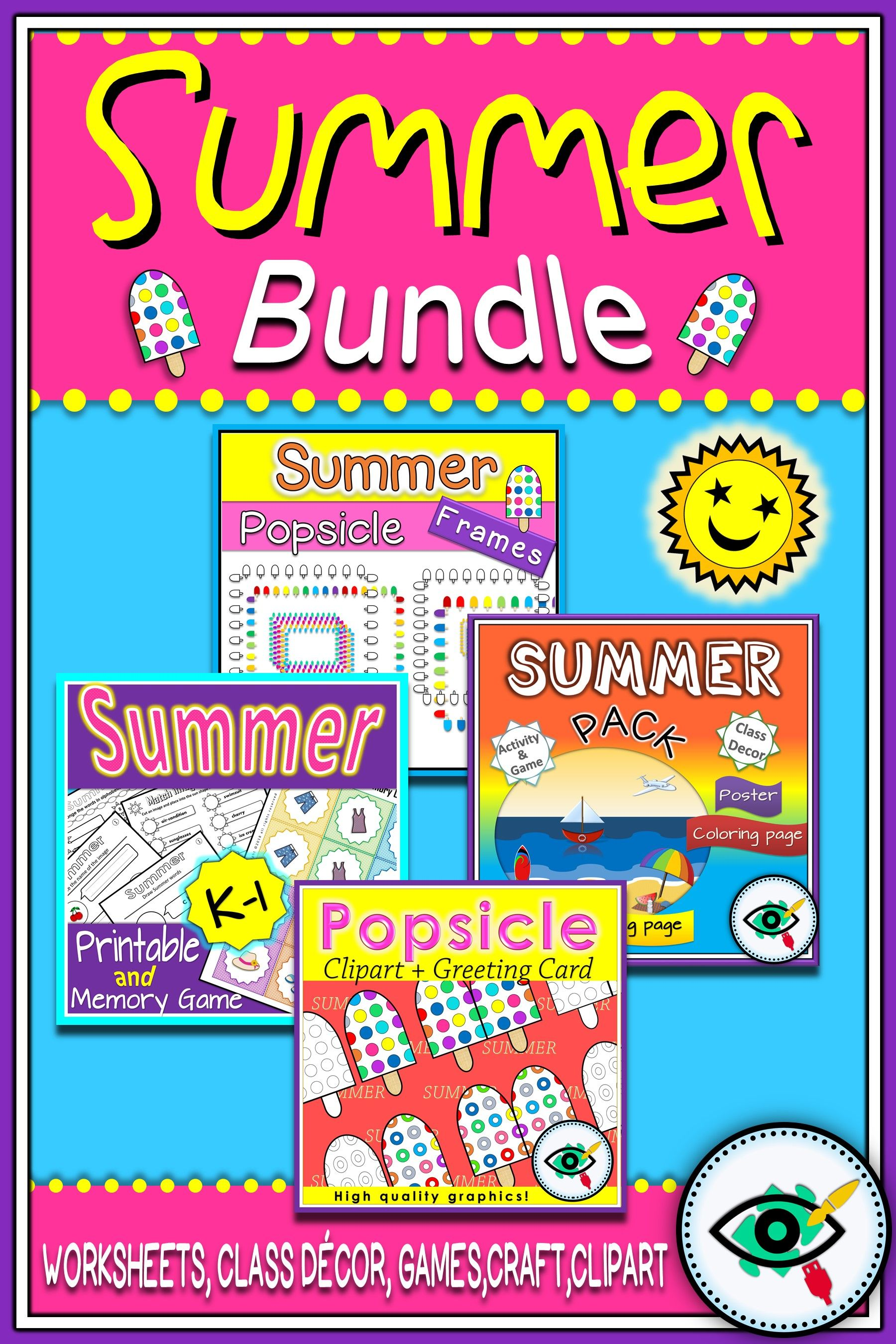 Summer Bundle With Printables Clip Art Frames And