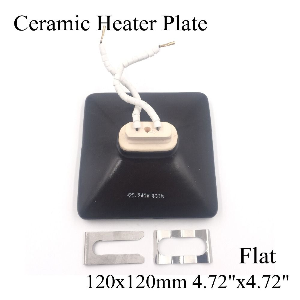 Ceramic Heater Board 120 120mm 220v 230v 800w Black Flat Top Upper Infrared Ceramic Heating Plate For Bga Station Heater Heat Ceramic Heater Heater Air Heating
