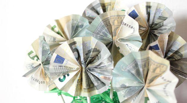 Geldgeschenke Originell Verpacken Geld Blumenstrauss Danato