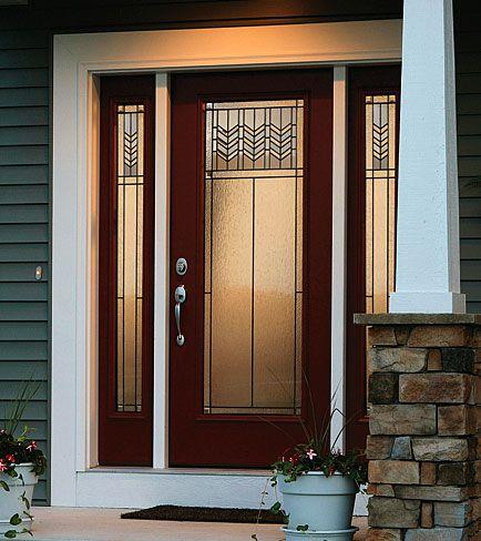 Pretty Prairie Craftsman Front Doors Craftsman Style Doors Decorative Door Glass