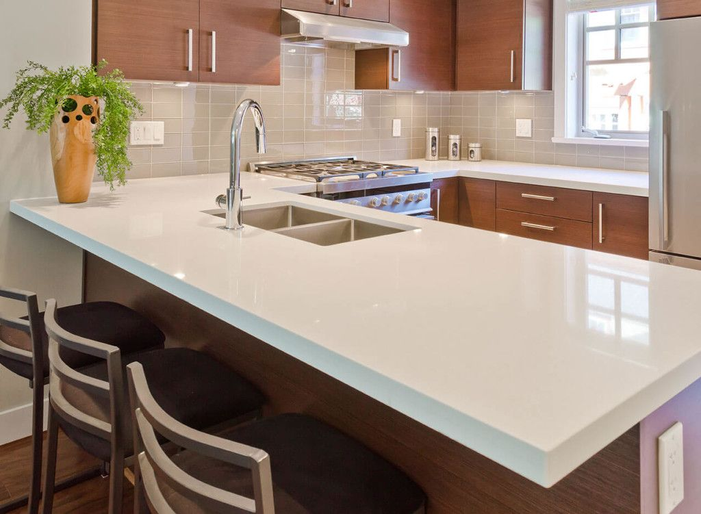 Arctic White Quartz Quartz Kitchen Countertops White Kitchen