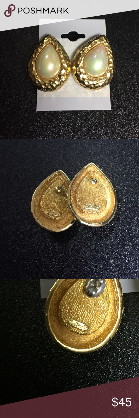 Vintage Christian Dior Gold toned Earrings In good Vintage condition! 🚫Trades! Open to reasonable offers through the offer button! Christian Dior Jewelry Earrings