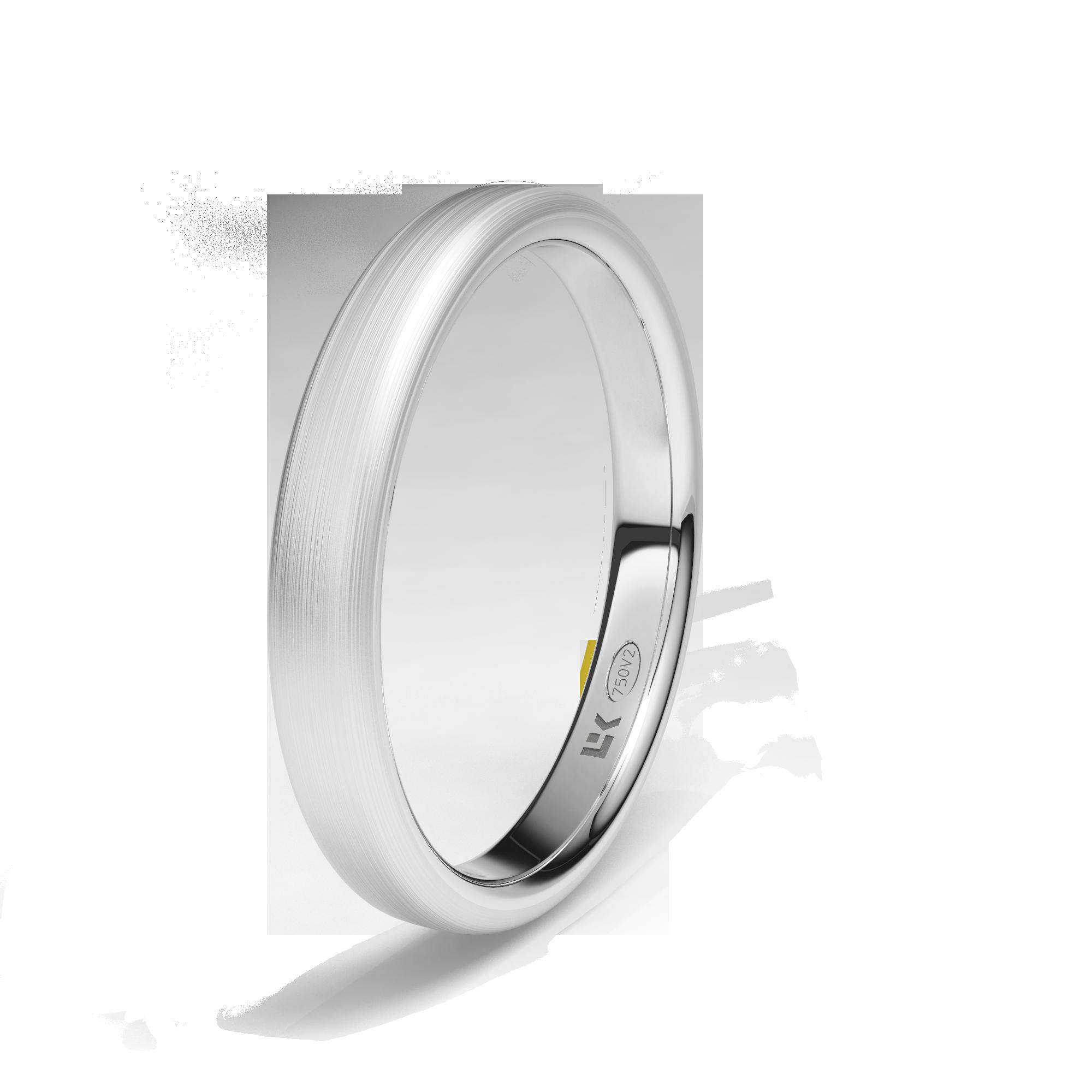 #AlianzaELEKA oro blanco de 18K modelo Elipse calibre 3mm superficie mate seda #novias #bodas.#alianzas, #anillosdeboda, www.cnavarro.com