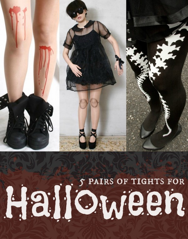 A collection of fun tights for Halloween! #halloween #fashion #costume