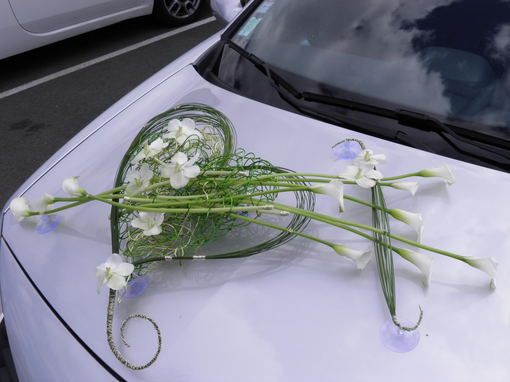 Wedding car flower decoration images  Car decoration  source unknown  Blommor  Pinterest  Wedding cars