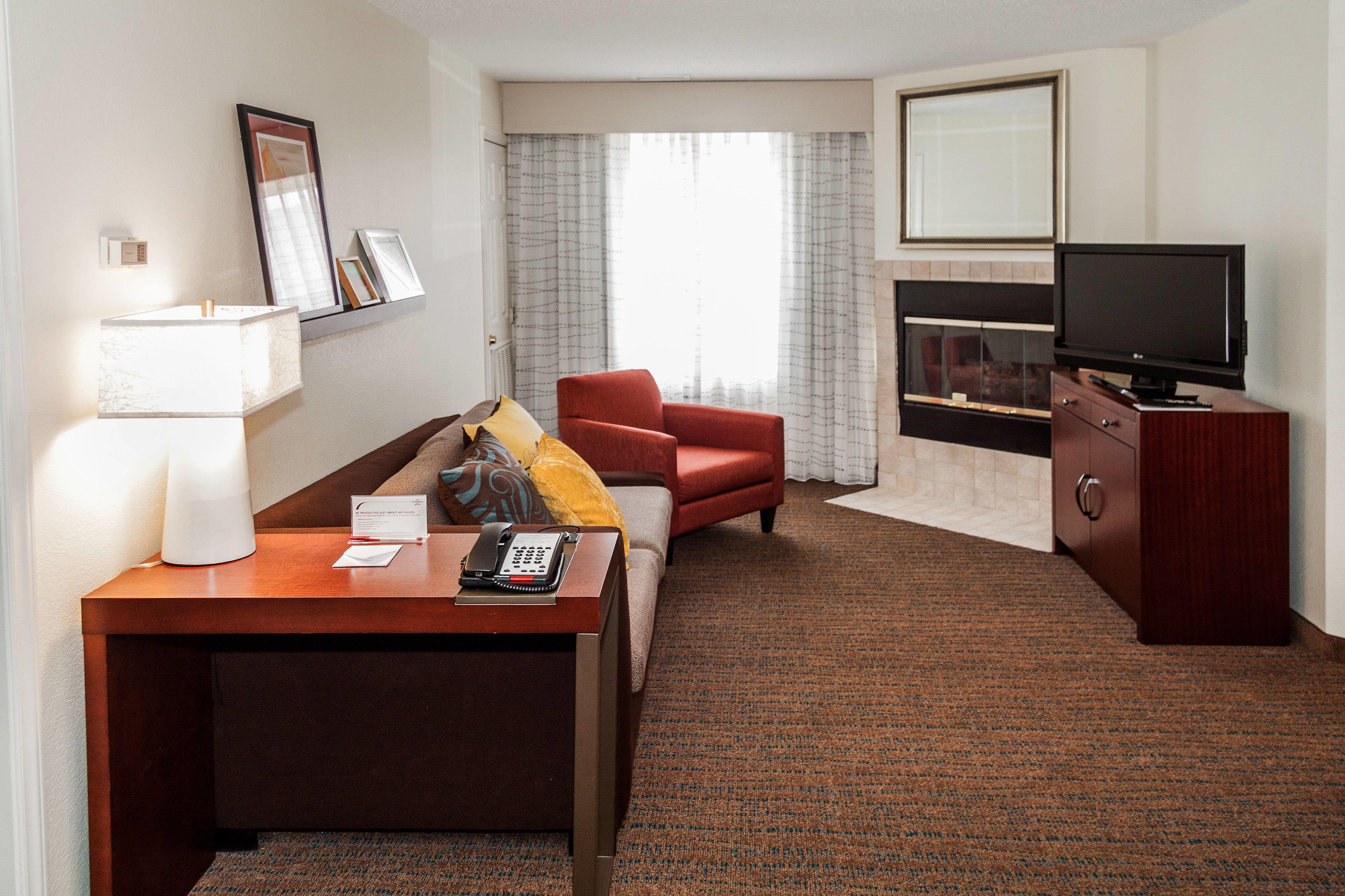 Residence Inn Rocky Mount TwoBedroom Suite Fireplace