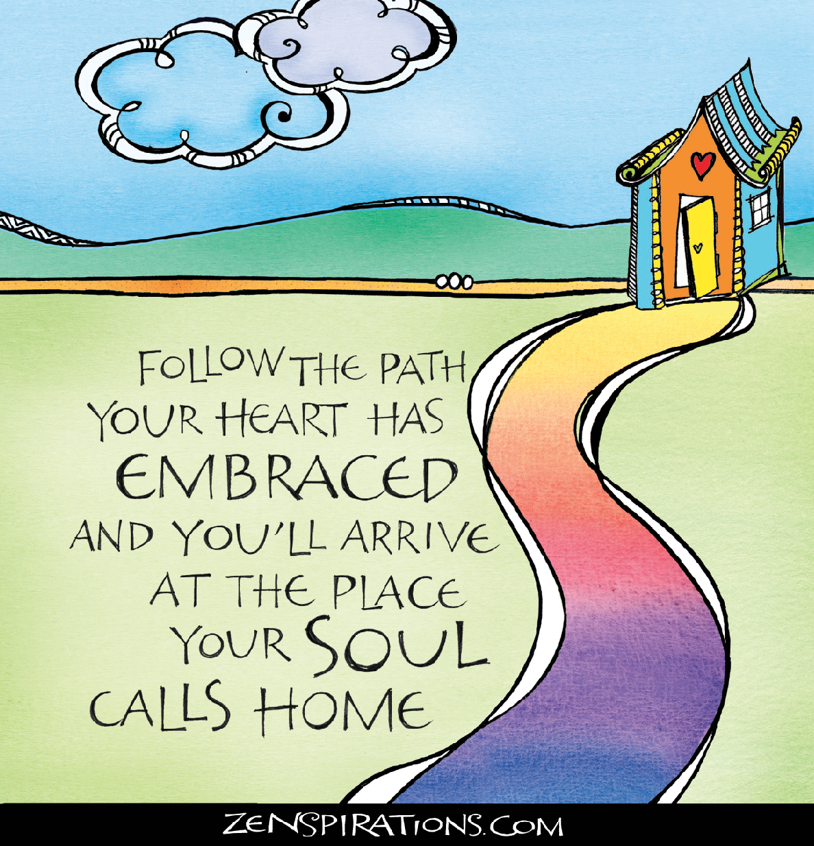 This Zenspirations design by Joanne Fink was created for her new book, With God All Things Are Possible, published by Harvest House.