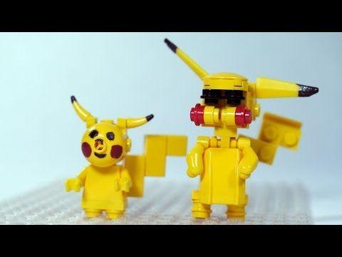 How To Build Lego Pokemon Pikachu Youtube Custom Lego
