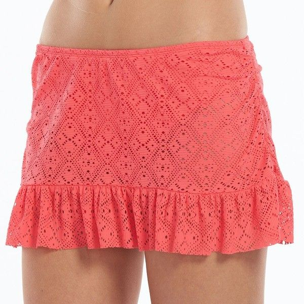 bebd0bf747a Women s Apt. 9® Crochet Ruffle Skirtini Bottoms ( 20) ❤ liked on Polyvore  featuring swimwear