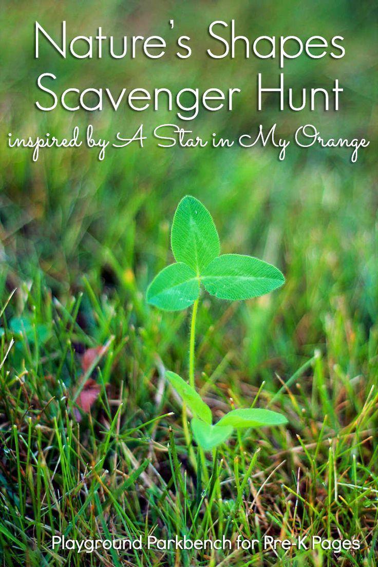 Nature Shape Scavenger Hunt | Preschool classroom, Activities and Math