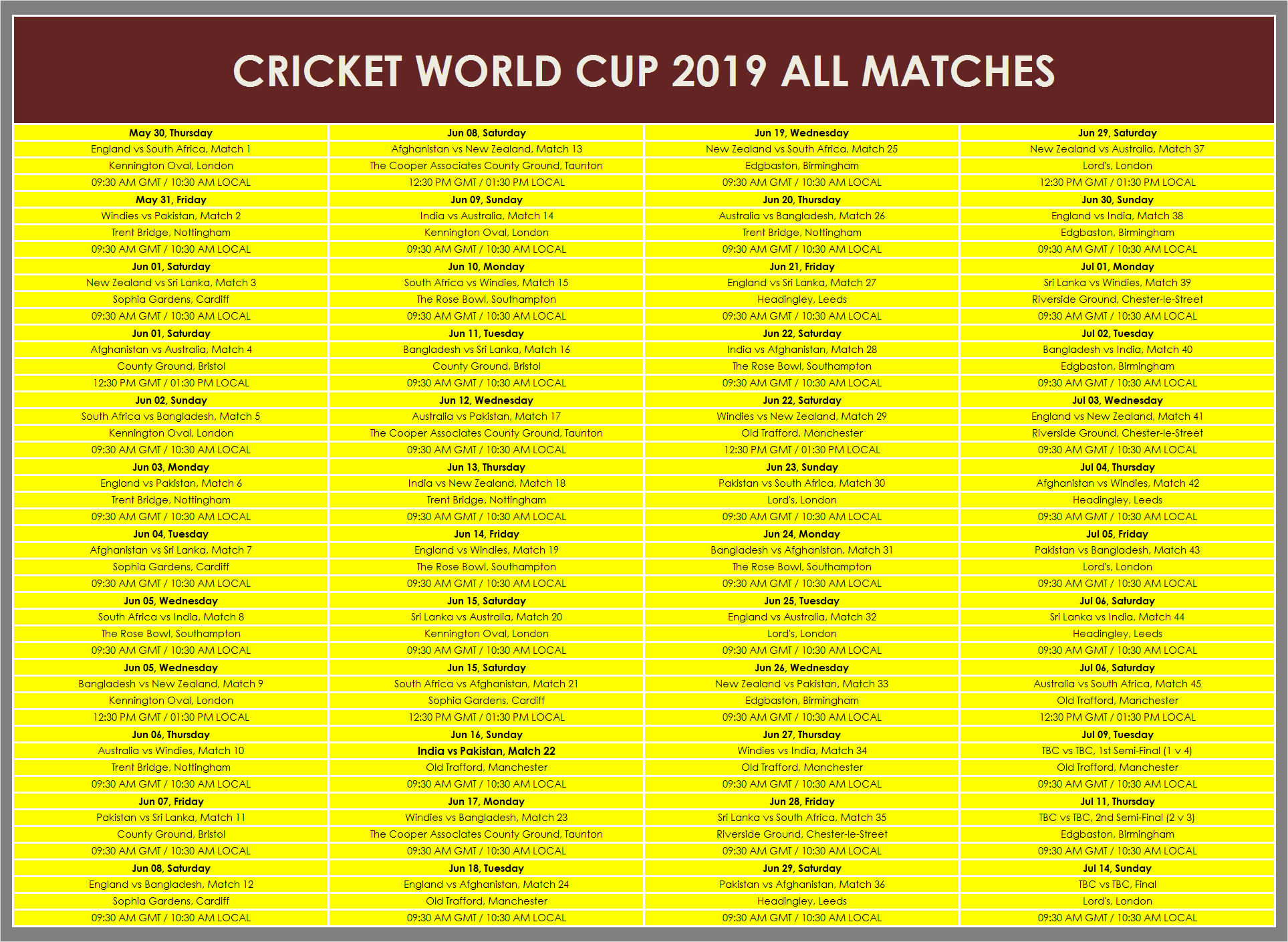 World cup news and photo cricket 2019 schedule pdf printable