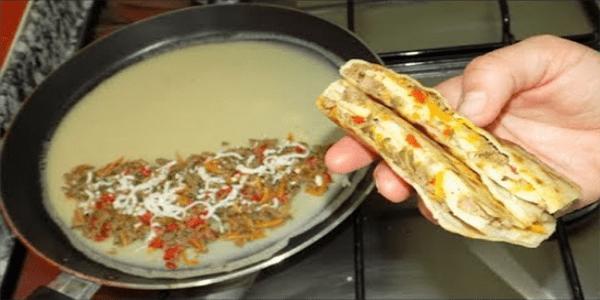 فطائر الخلاط تحفة في المقلاة بدون فرن و بدون اختمار سريعة جدا Food Recipes Cooking