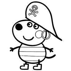 danny dog from peppa pig printable coloring pages