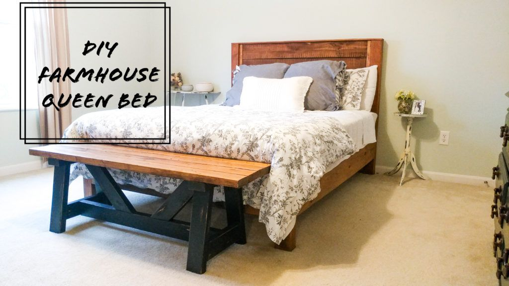 Diy farmhouse queen bed life on summerlin bed frame