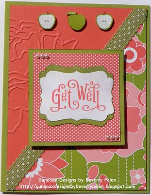 Guneaux Designs by Beverly Polen: Stampin' Up! Get Well Greeting Card
