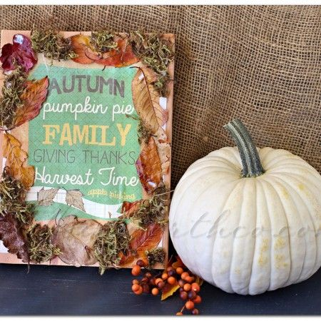 Decoupage Fall Sign ~ Project 52 Week 39