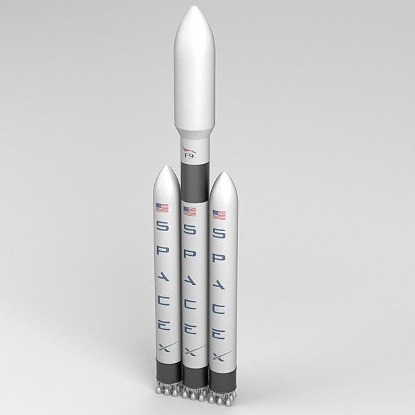 Spacex Falcon 9 Dragon Rocket 3D lançamento do modelo impresso América Nasa