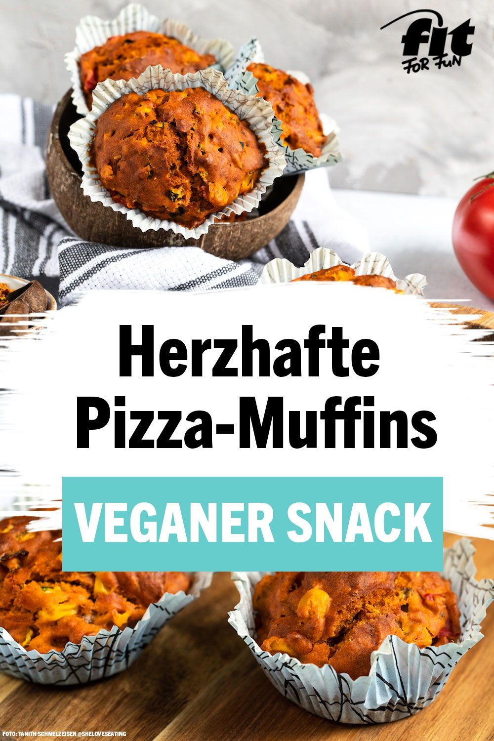 Photo of Recipe: Hearty pizza muffins: vegan snack for in between – FIT FOR FUN
