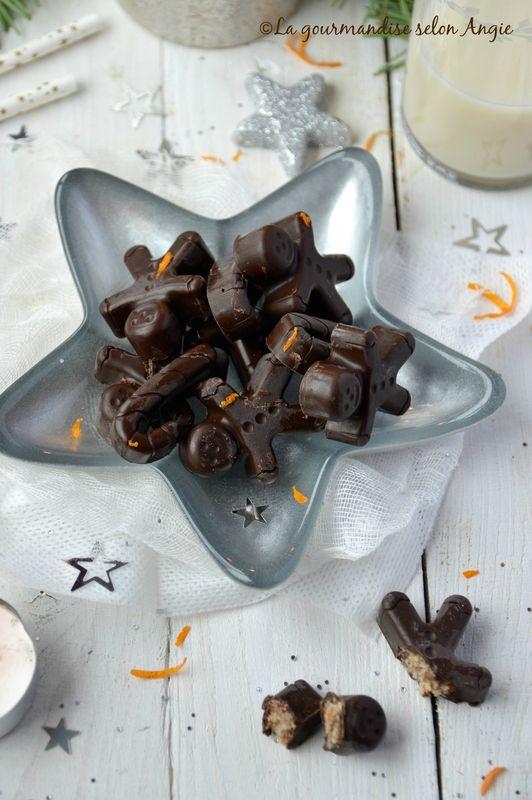 chocolats crus amande et orange vegan noël 1