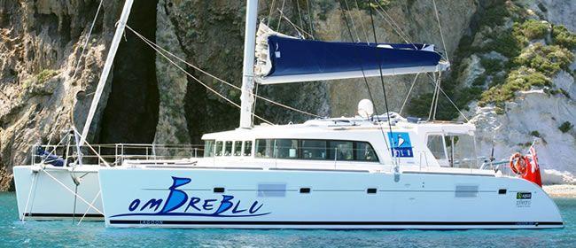 Sail Sicily aboard 50' Catamaran Ombre Blu Sailing