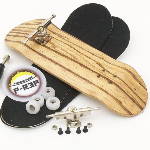 30mm n.EXT Complete Wooden Fingerboard Ebony with CNC Lathed Wheels P-Rep
