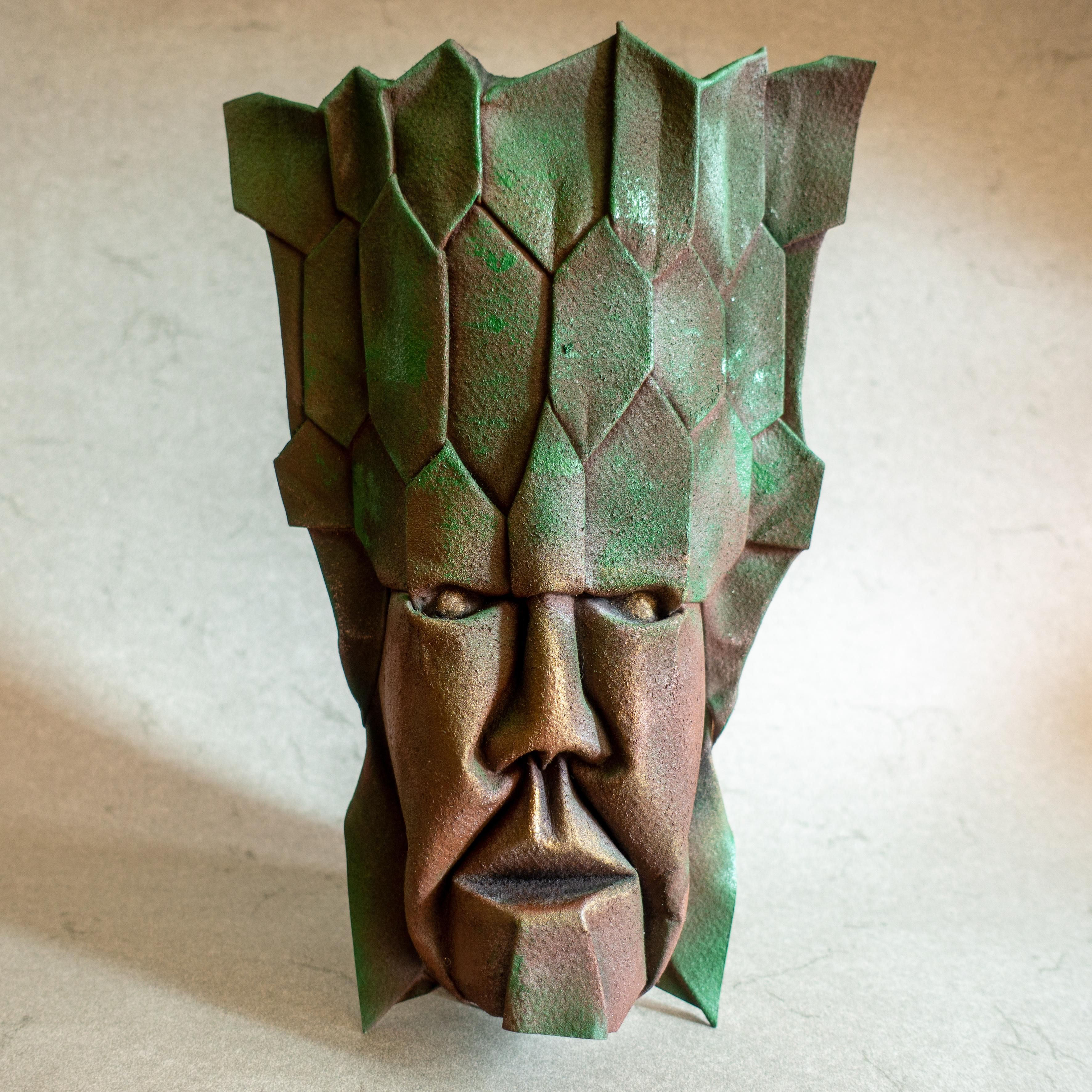 Phytosymbiosis 2 Folded Watercolor Paper 22x30 Cm Art Pinterest Science Fiction Origami Diagrams Mask Design Papercraft
