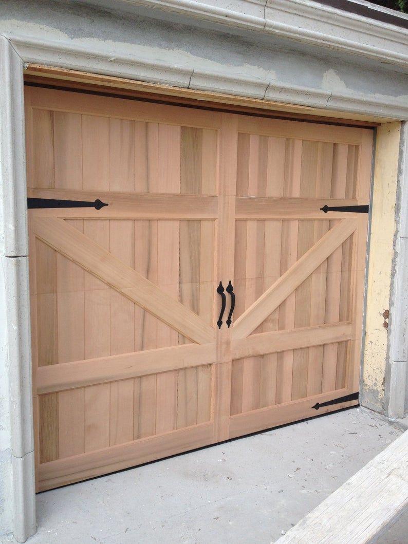 Gabriel Barn Style Custom Wood Garage Door In 2020 Barn Style Garage Doors Garage Door Design Wood Garage Doors