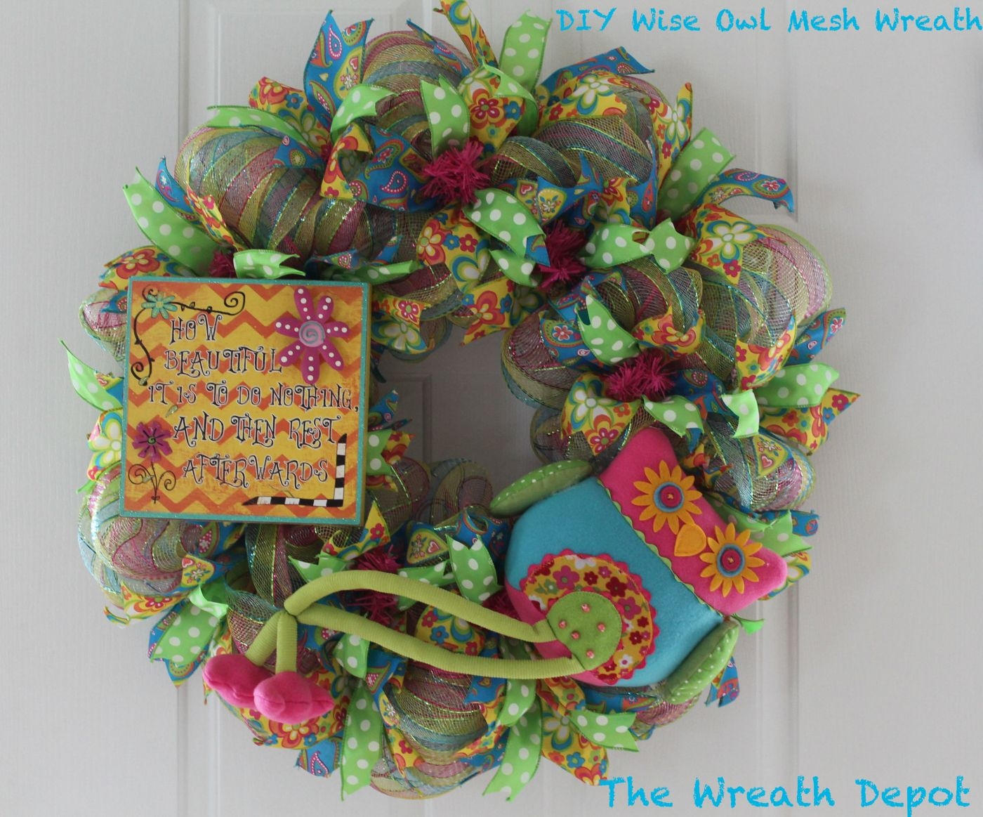 how to make a fall ribbon wreath
