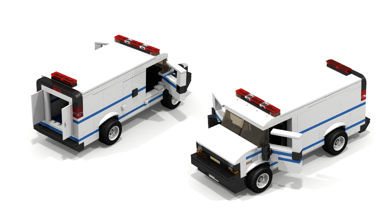 Custom lego city chevrolet police van legos 2 lego camion lego lego cars - Lego camion police ...