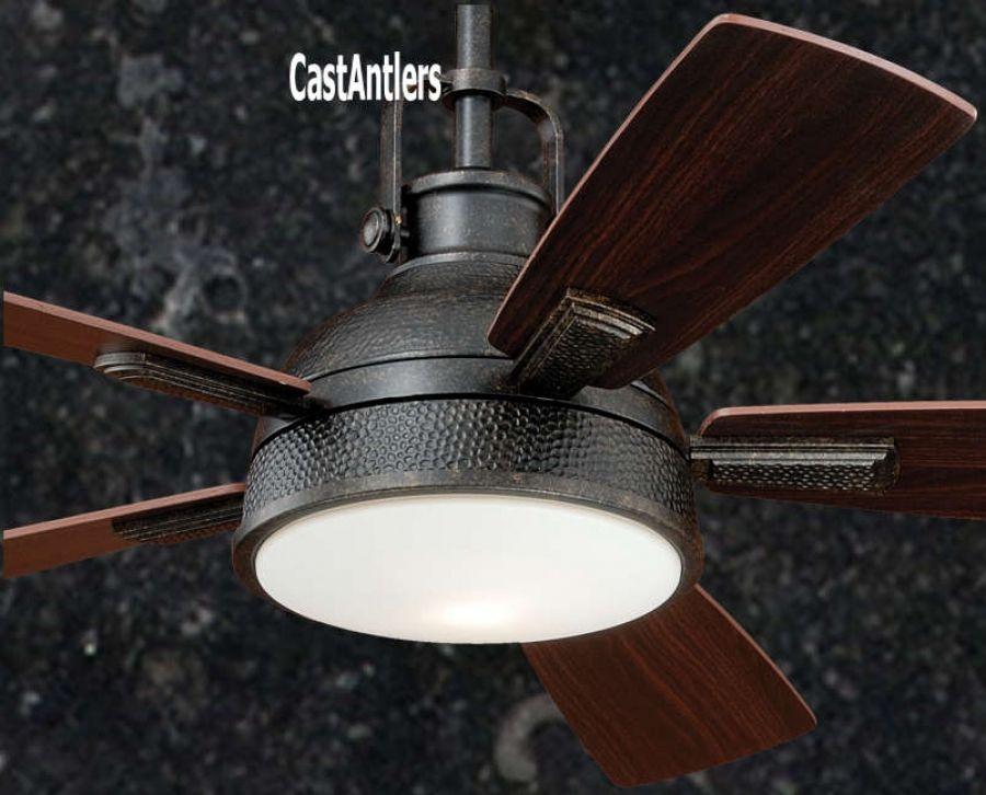 52 Rustic Loft Bronze Industrial Ceiling Fan With Light And