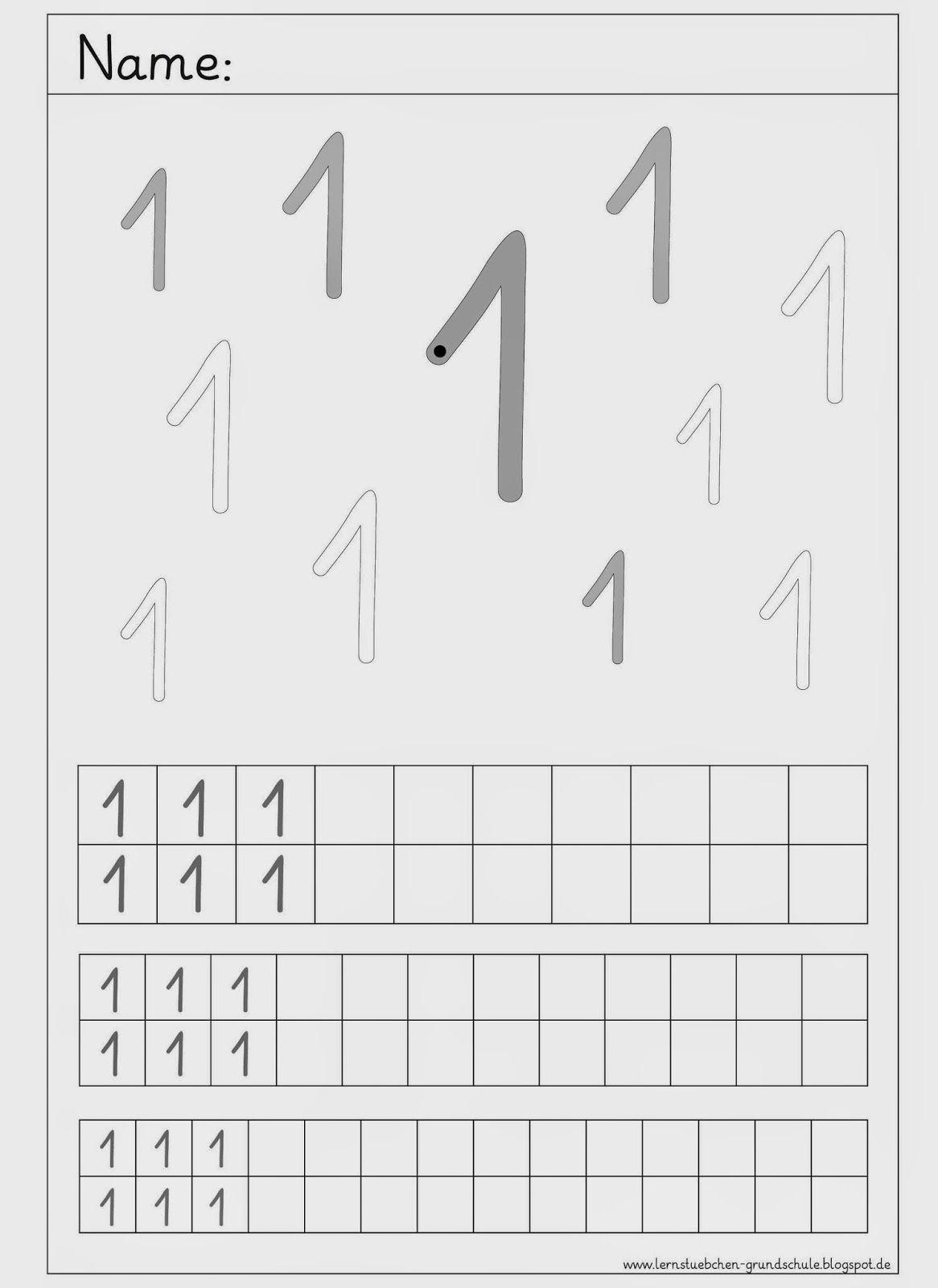 Ziffern schreiben von 1 bis 3 | Karty pracy | Pinterest | Ziffern ...