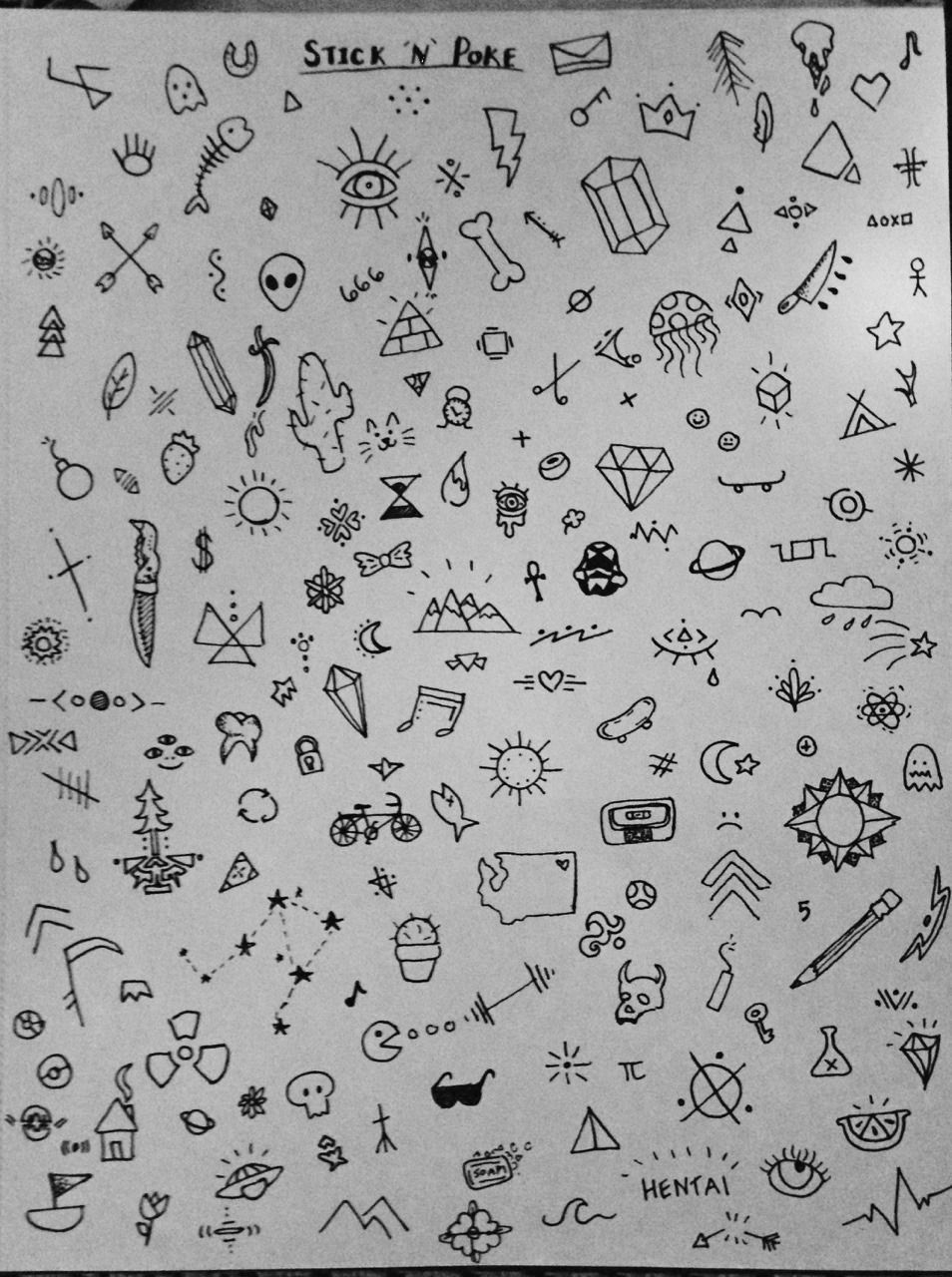 Some Stick And Poke Ideas I Drew Up татуэскизыпартаки идеи для