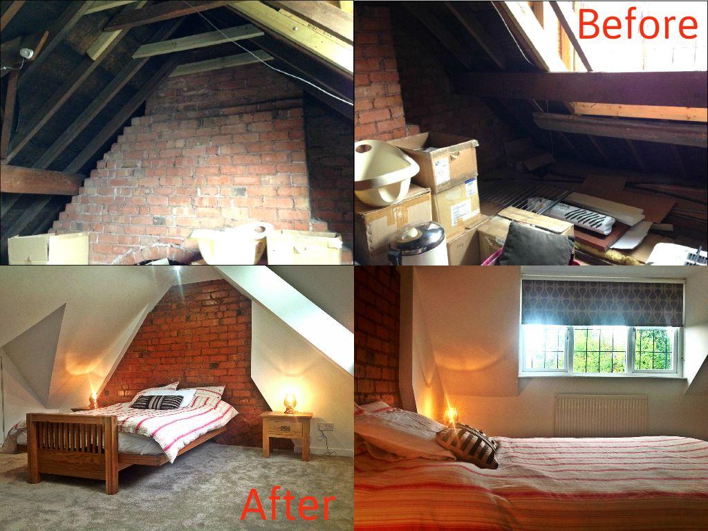 Before After In A Rear Dormer Loft Conversion Master Bedroom