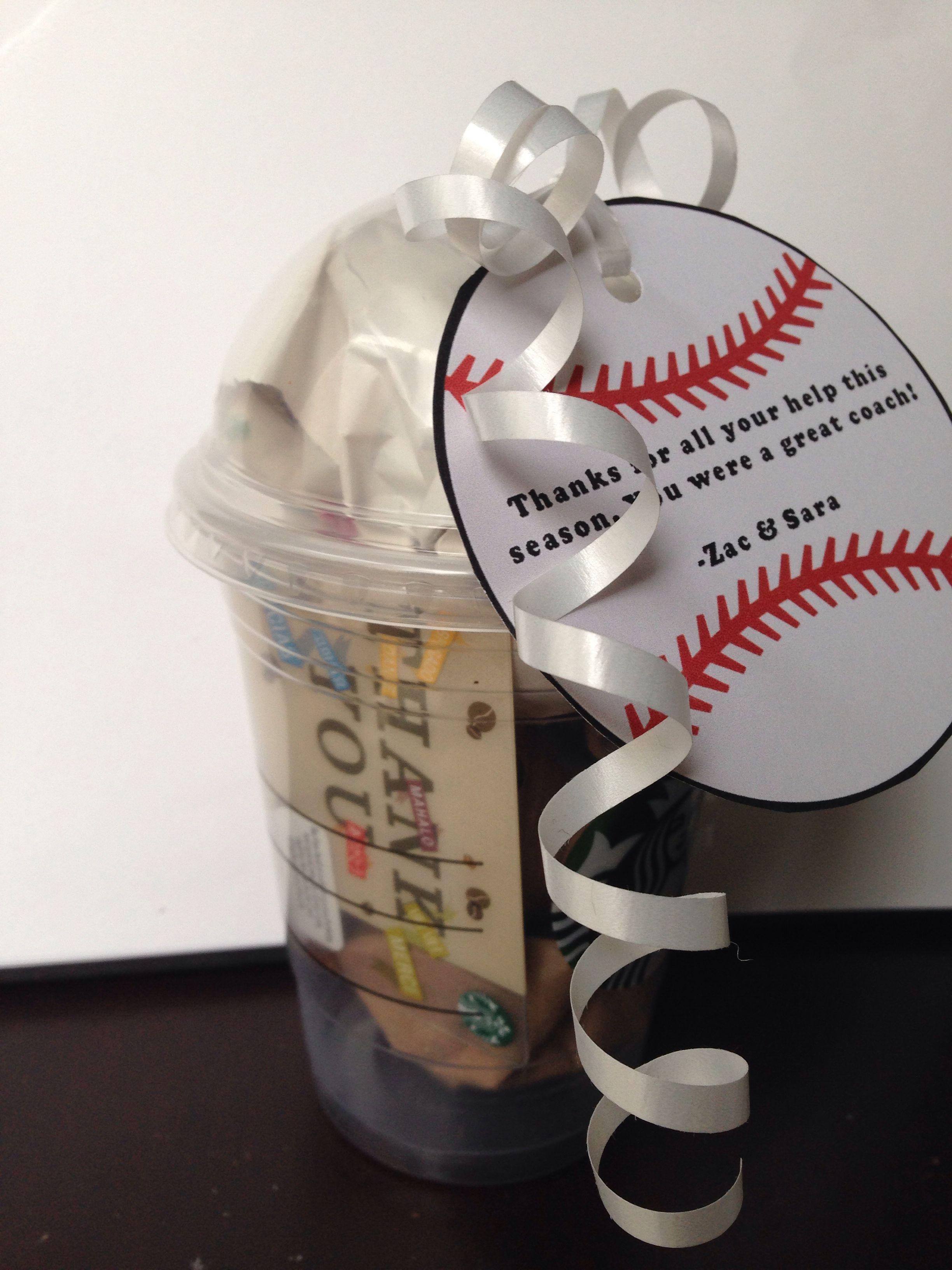 Thank You Gift For Tball Coach Teacher Treats Teacher Gifts Coach Gifts
