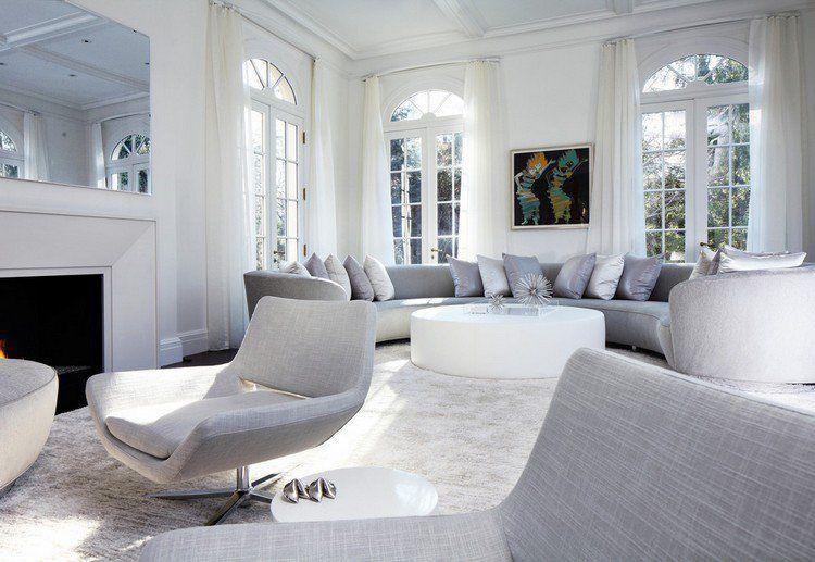canap demi lune et canap rond 55 designs. Black Bedroom Furniture Sets. Home Design Ideas