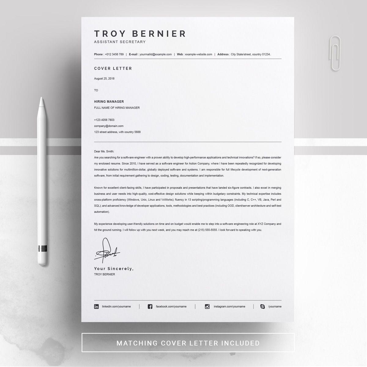 Troy Bernier Resume Template Ad Resume Bernier Troy