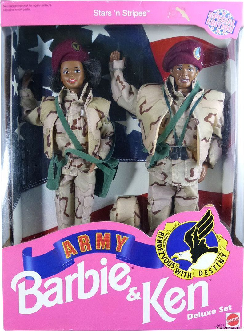 special edition starsun stripes army black barbie u ken dolls