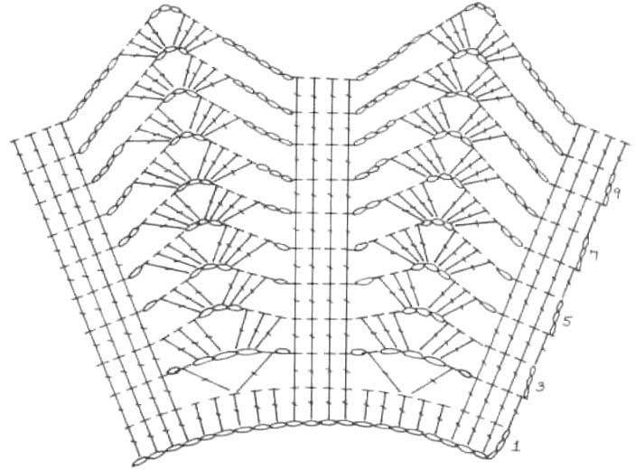 ажурные воротнички крючком схемы и описание фото