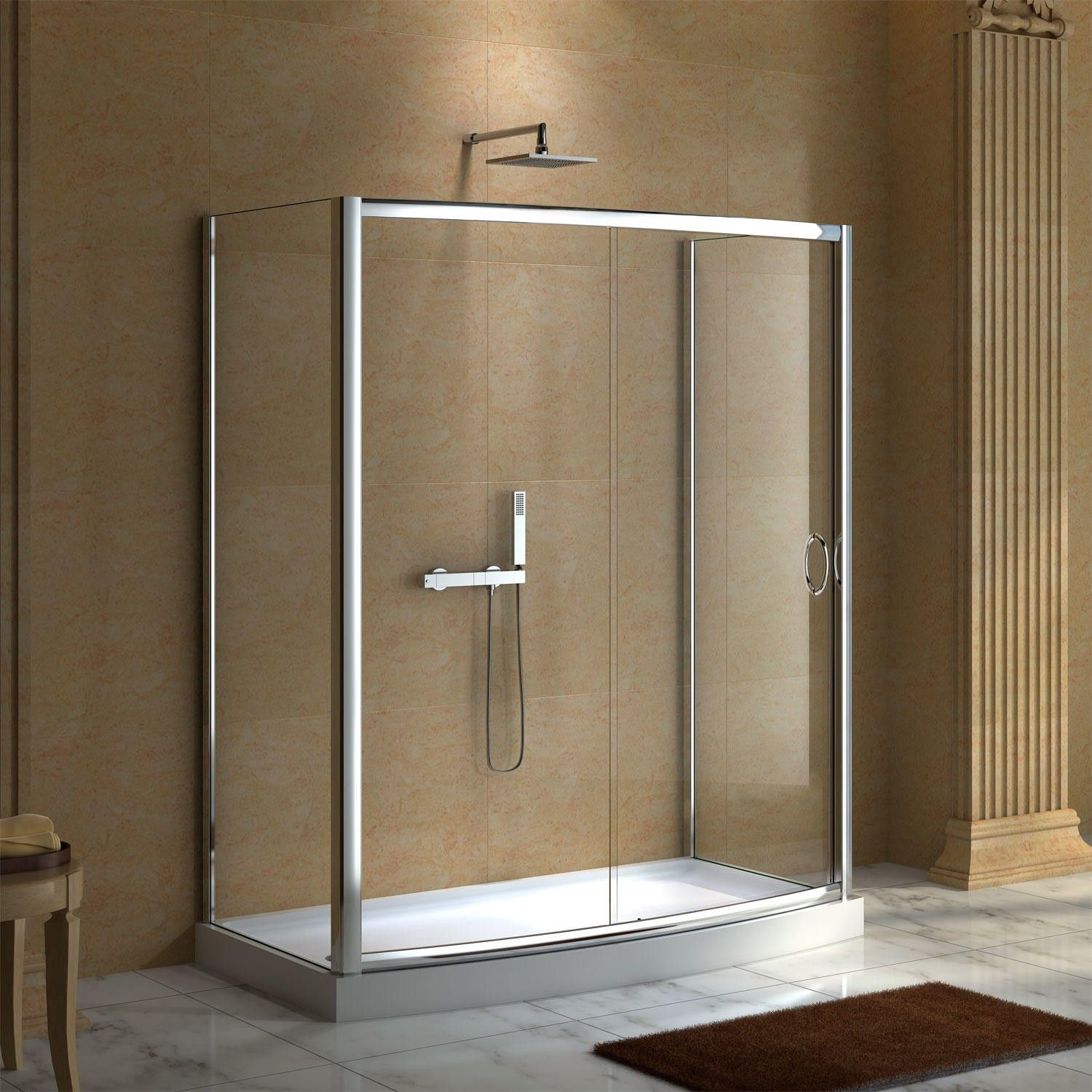 59 Quot X 30 Quot Karev Shower Enclosure With Tray 927 Master