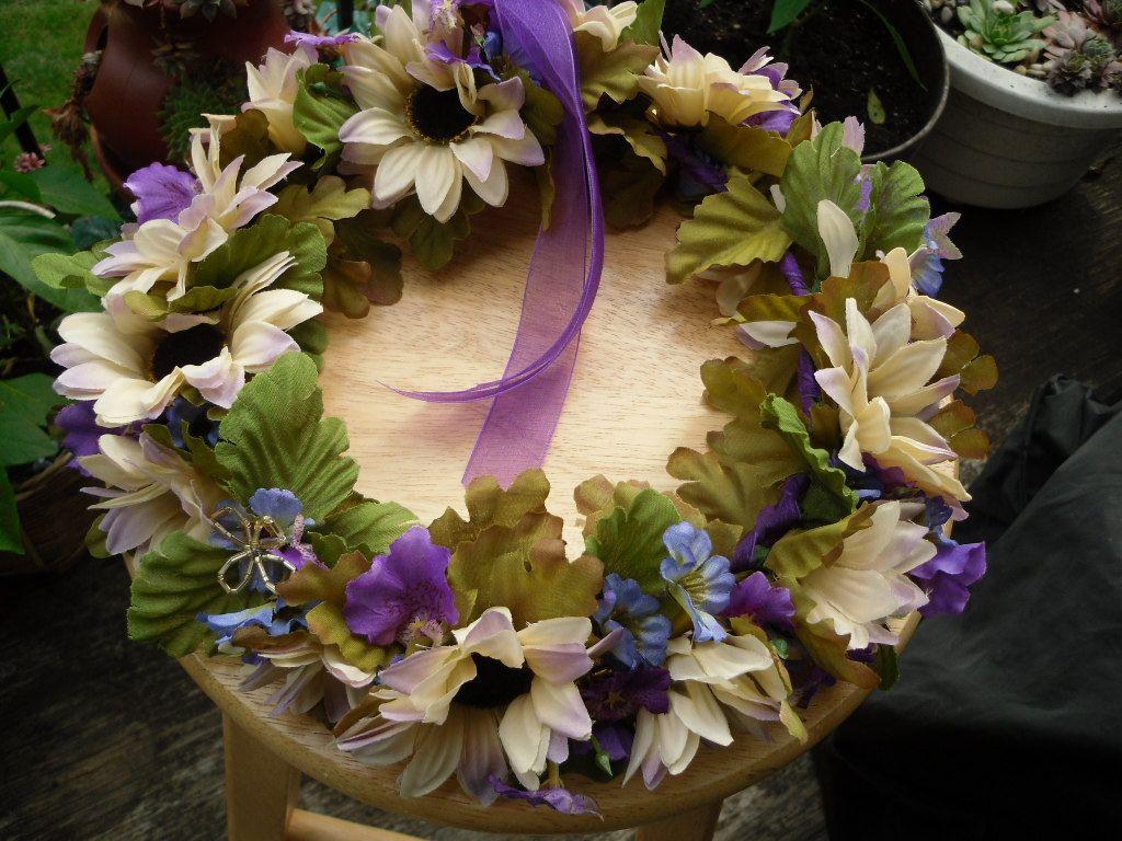 Sunflowers In Purple Flower Crownrenaissance Festivalcirclet
