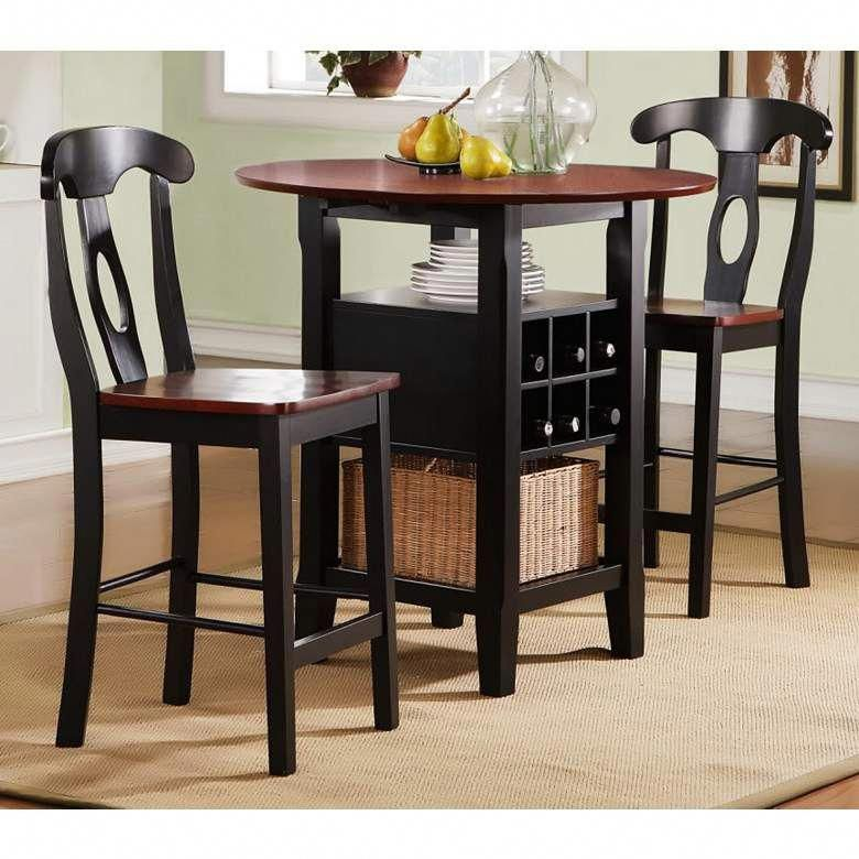 """homebelle 36"""" wide bistro table with chairs 3piece set"""