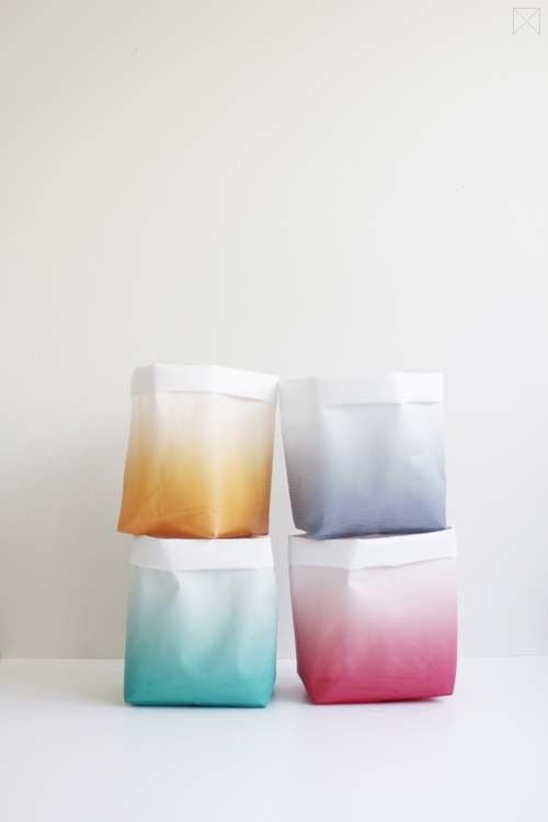 Ombre storage sacks from The Minimalist Store