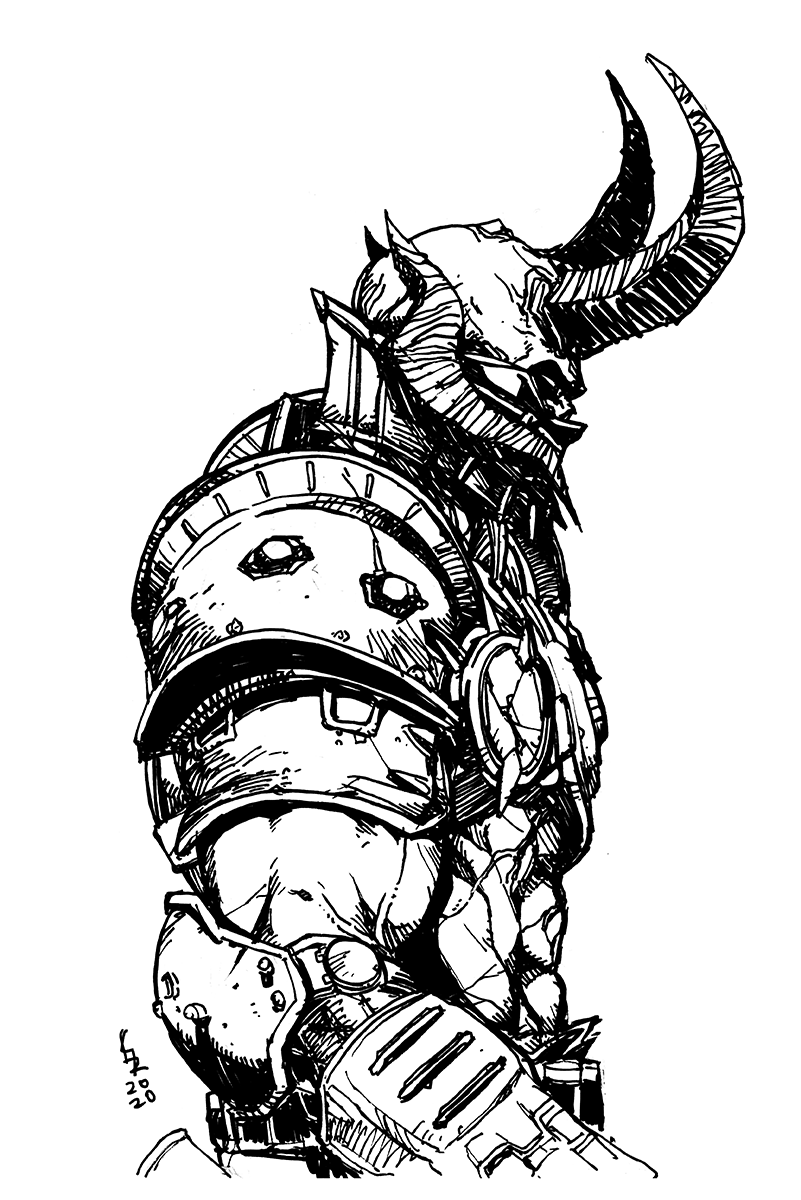 Doom Eternal Fan Art Art Samurai Tattoo Design Fan Art
