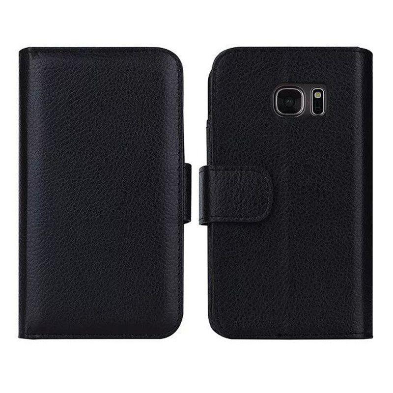 Multi-card bit flip wallet leather for Samsung s7 Edge case