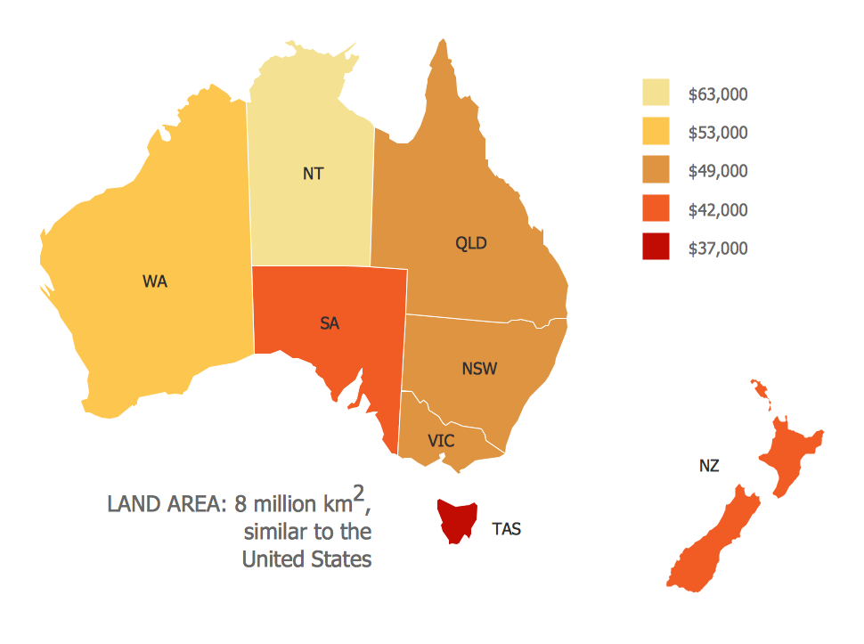 Map 8f Australia.Map Of Median Household Income In Australia Maps Continent Maps