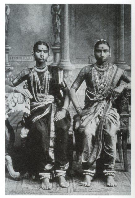 Old Photos 1920 S India Two Devadasis Tamil Nadu South India 1920 S Old Indian Photos Vintage India Indian Postcard Indian Dance