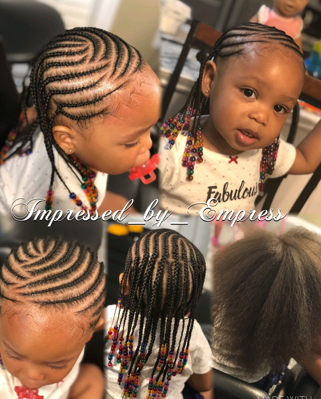 Chloe Her First Time Getting Her Hair Braided And That S All Her Hair Braids Braidstyles Kids Hairstyles Little Girl Braid Styles Braids For Kids