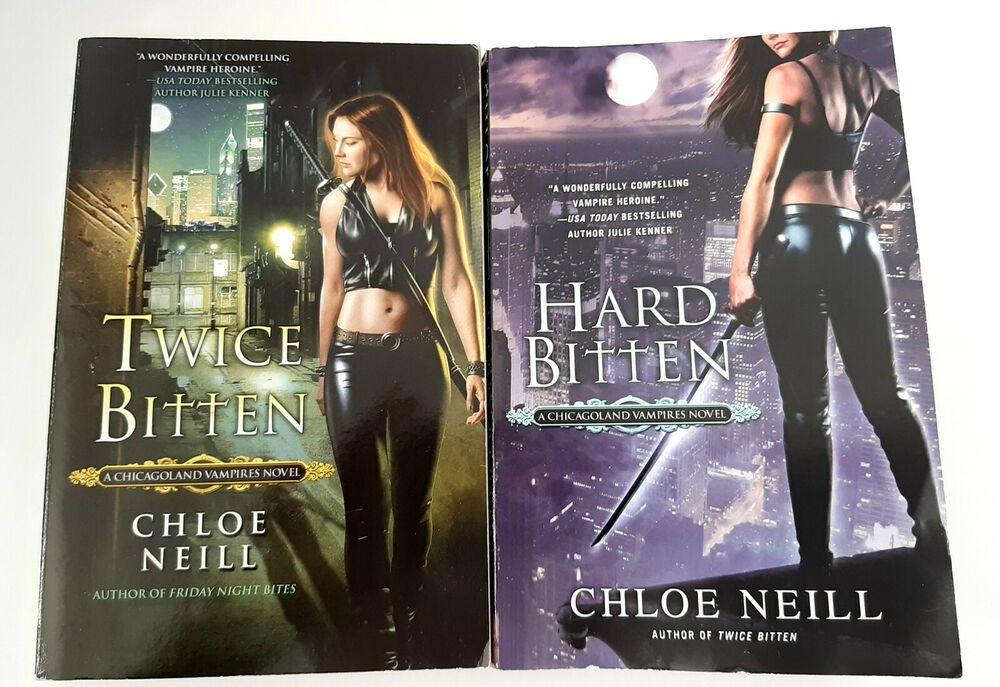 Lot of 2 Chloe Neill Novels Chicagoland Vampire Series Hard Bitten, Twice Bitten