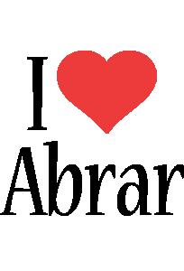 Abrar I Love Logo Love Logo Name Logo Novelty Sign